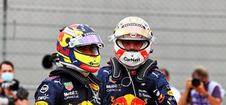 Sergio Perez i Max Verstappen, VN Francuske 2021.