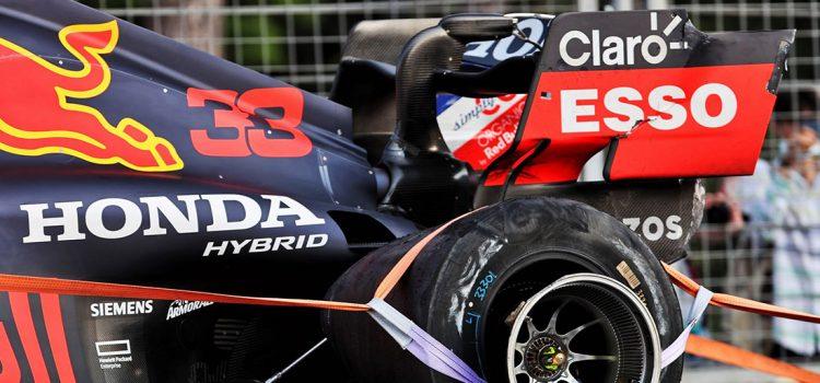 Max Verstappen - guma na VN Azerbejdžana 2021.