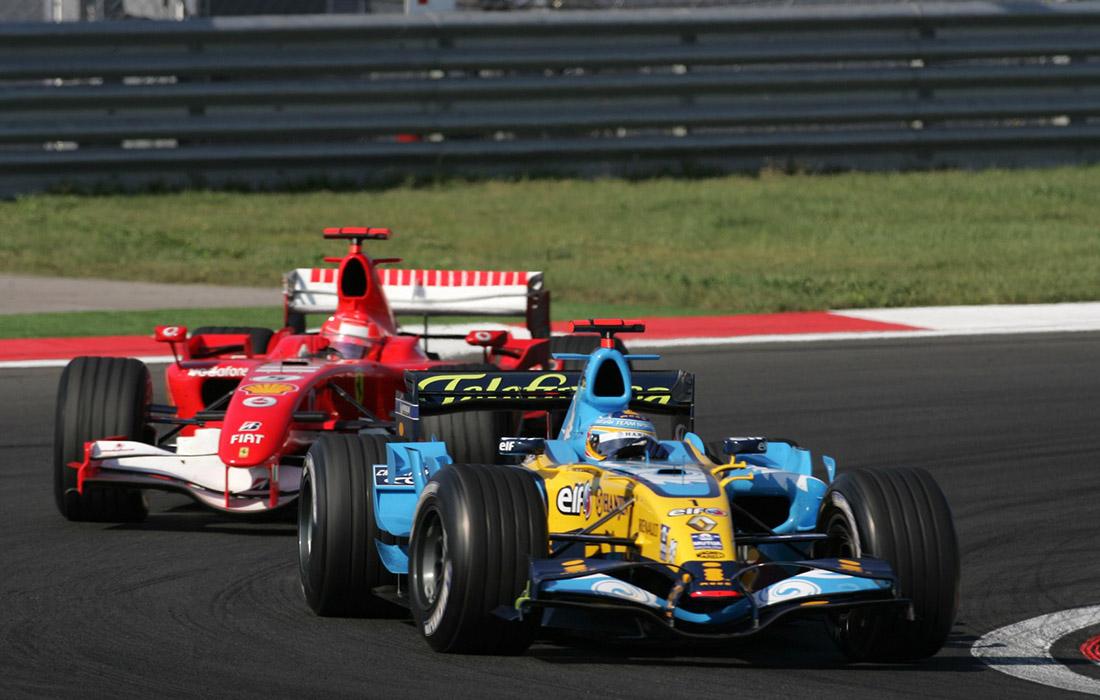 Fernando Alonso i Michael Schumacher