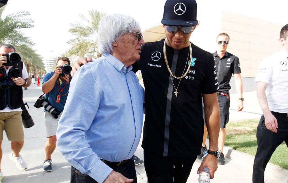 Bernie Ecclestone i Lewis Hamilton