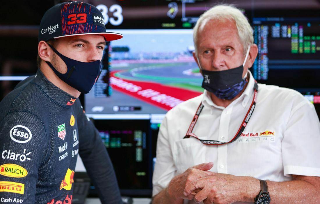 Max Verstappen i Helmut Marko