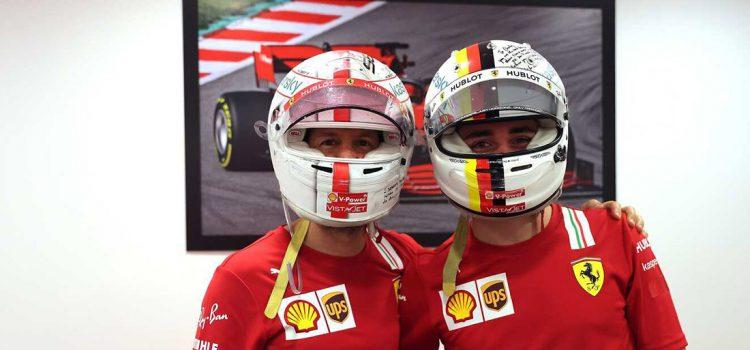 Sebastian Vettel i Charles Leclerc